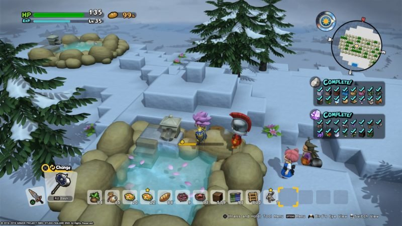 how to build steamy spa dragon quest builders 2