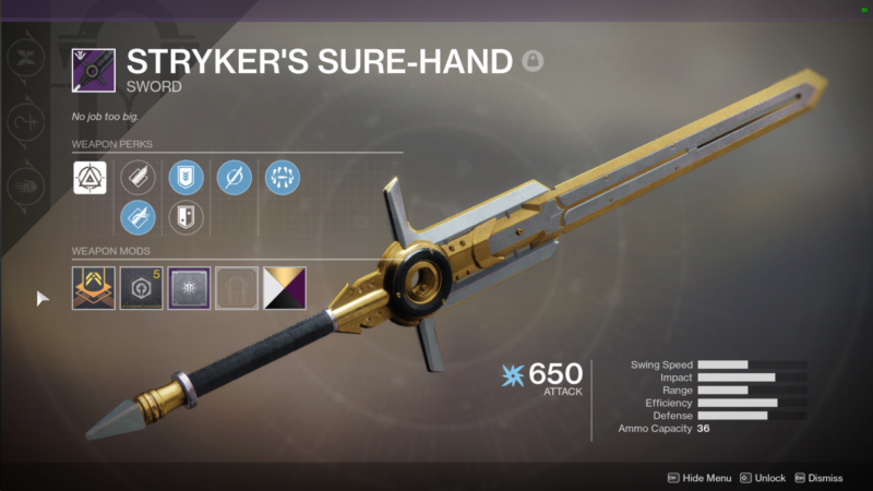 Best Black Armory Weapons-styker's-sure-hand