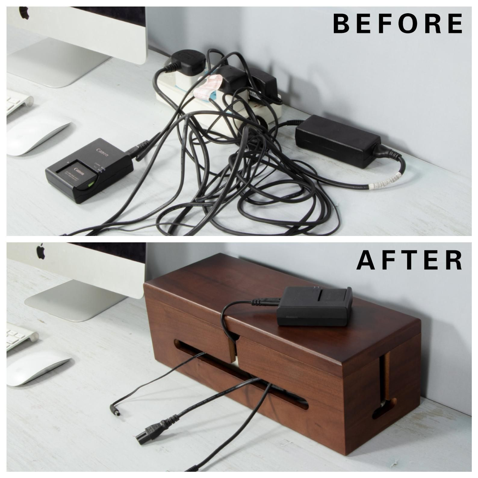 desk box for cables