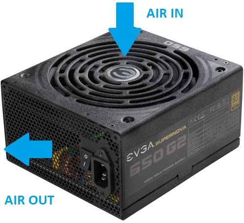 Air Flow Power Supply Gaming PC